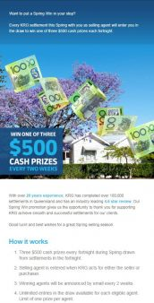 KRG Conveyancing spring promotion